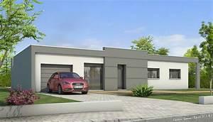 Plan Maison Contemporaine Toit Plat : plan maison toit plat lys maisons clair logis ~ Nature-et-papiers.com Idées de Décoration