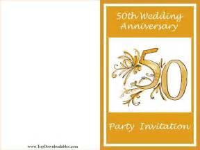 free printables 50th wedding anniversary wording - 50 Wedding Anniversary
