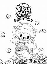 Llama Coloring Poppy Sprinkles Pages Printable Pikmi Sprinkle Pops Pyjamas Fun sketch template