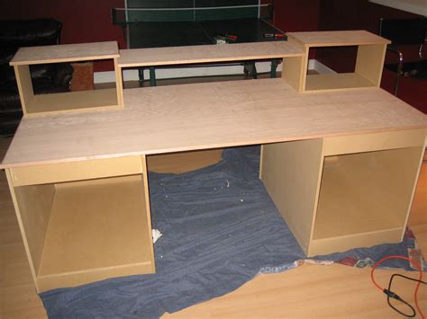 how to build a wooden desk diy desk build inspired by many gearslutz pro audio