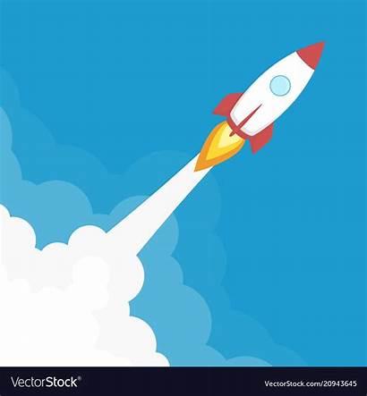Rocket Launch Vector Banner Royalty Vectors