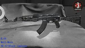 AK-47 Black Laminate - Skin Wear/Float - YouTube
