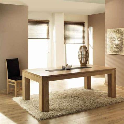 table de salle  manger en chene massif extensible