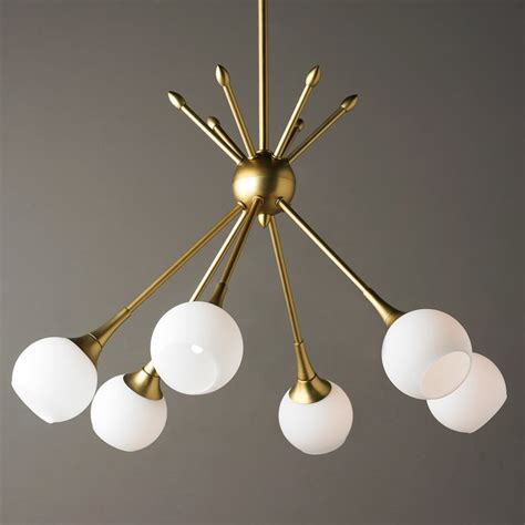 mid century modern mobile chandelier 6 light shades of