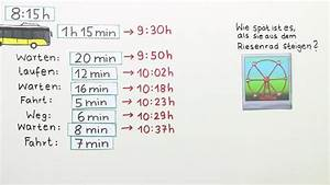 Zeitspanne Berechnen : zeit sachaufgaben mathematik online lernen ~ Themetempest.com Abrechnung