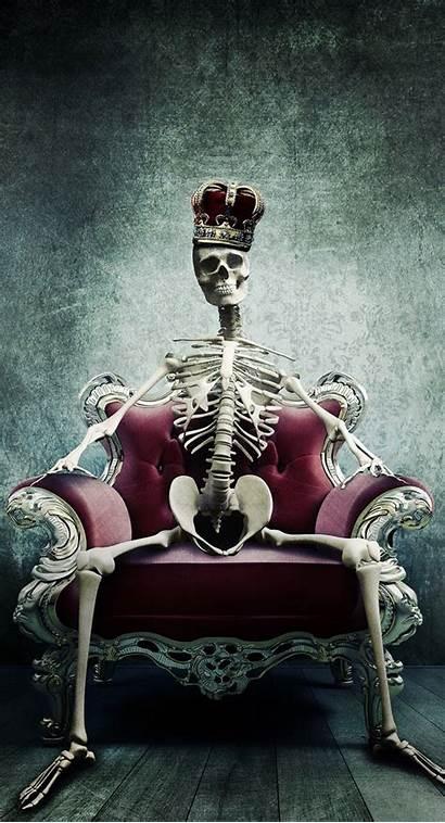 Iphone Skeleton Crown Sanatı Kafatası Kafatasları Paper