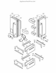 Parts For Lg Lmx25964st    02  Door Parts