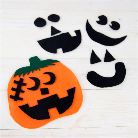 felt pumpkin preschool craft 508 | Felt Pumpkin Preschool Craft Square