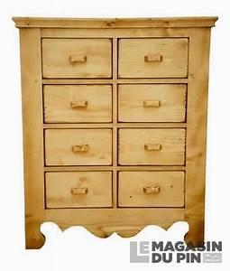 Commode 8 Tiroirs : commode 8 tiroirs en pin massif chamonix le magasin du pin ~ Teatrodelosmanantiales.com Idées de Décoration