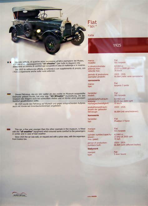 1925 Fiat 501 Torpedo Museum Exhibit 360carmuseumcom