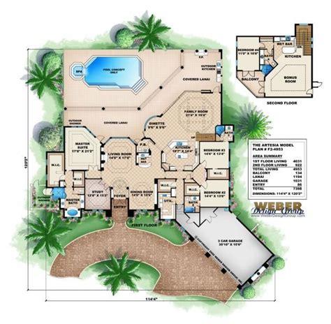 mediterranean style floor plans mediterranean house plan artesia house plan weber