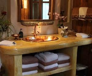 salle de bains facon campagne http wwwdecofr photo With salle de bain rustique