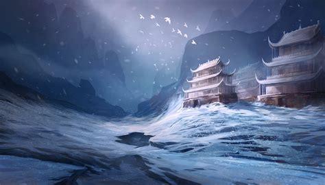 fantastic world fantasy castle asiajn winter wallpaper