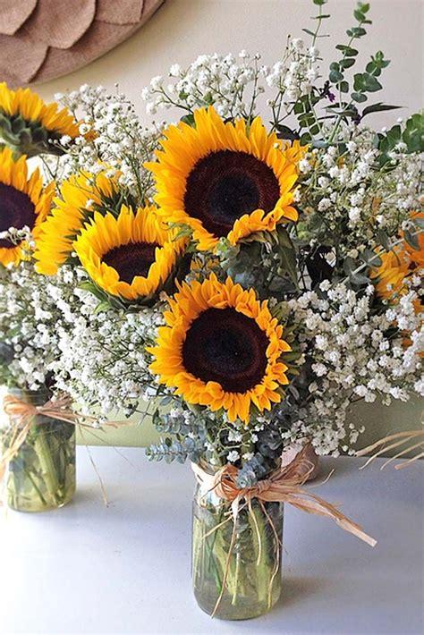 sunflower wedding arrangements