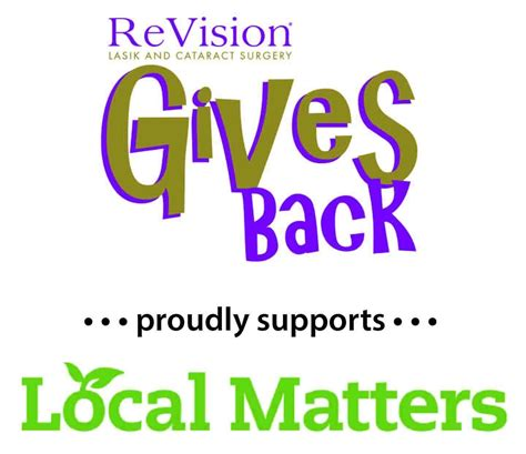 ReVision LASIK and Cataract Surgery Supports Local Matters
