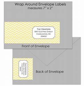 retro chevron custom wrap around envelope labels by posh With envelope label stickers