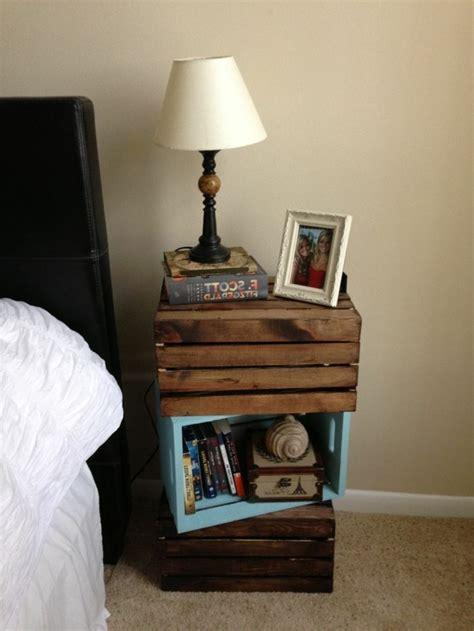 schlafzimmer ideen obstkiste nachttisch selber bauen baueinleitung und fotos