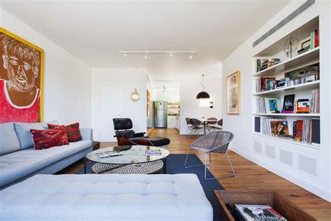 sliding kitchen doors interior modern bachelor pad in tel aviv employs neutral tones with