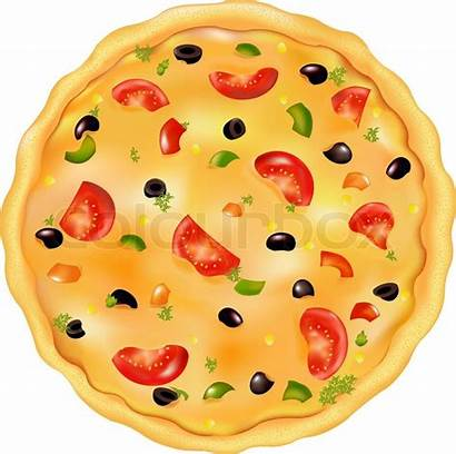 Pizza Vector Italian Olive Illustration Freshly Baked