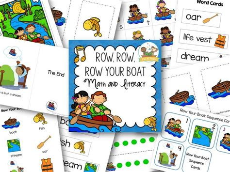 Row Your Boat Words by Row Your Boat Pre K Pages