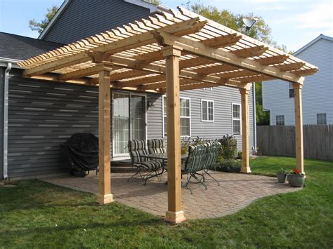 pergola patios building a pergola on deck u design blog built in with planter boxes over existing and ideas