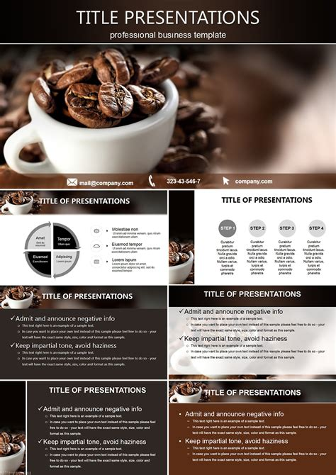 cup  black coffee powerpoint templates