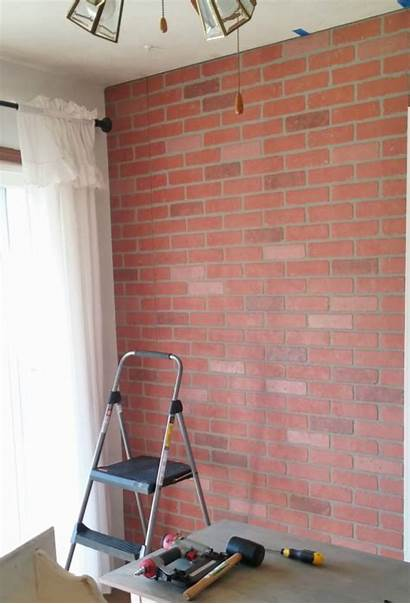 Brick Faux Wall Living Makeover Paneling Installing