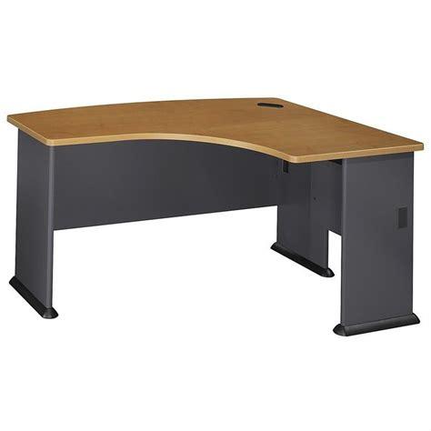 bush series a desk bush business series a 60w x 44d rh l bow desk in natural
