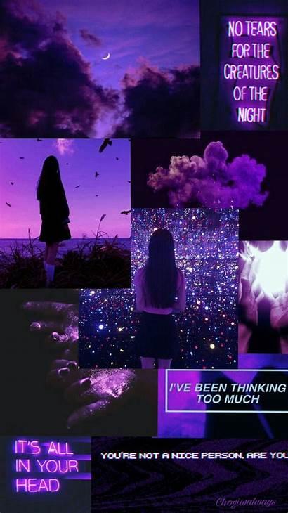 Purple Iphone Lockscreen Aesthetic Wallpapers Neon Backgrounds