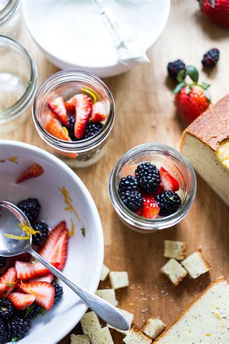 summer berry trifle  coconut whipped cream  lemon cake