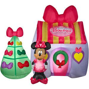 christmas disney minnie mouse bow tique house inflatable