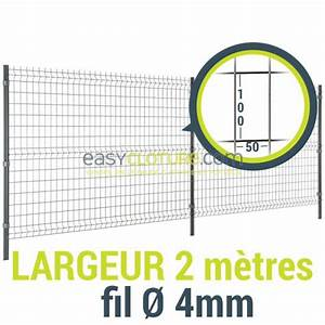 Prix Au Metre Cloture Grillage Rigide : panneau cl ture rigide easy home 2 m tres ~ Edinachiropracticcenter.com Idées de Décoration