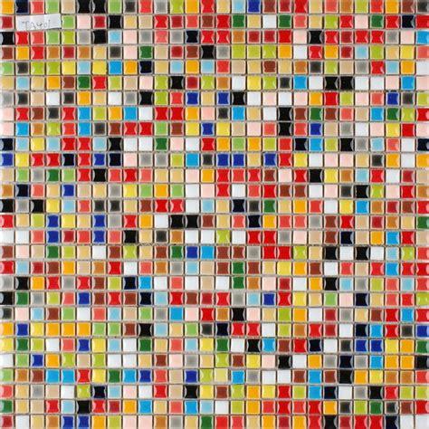 multi color porcelain tile kitchen floor small chips