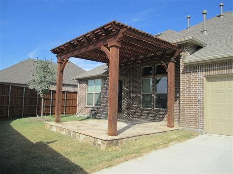 cedar patio cover dallas by best fence