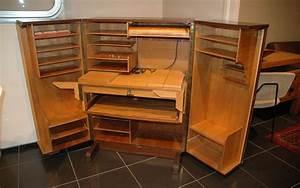 Bureau Secretaire Vintage : armoire secretaire bureau depliant 39galerie s b et ~ Teatrodelosmanantiales.com Idées de Décoration
