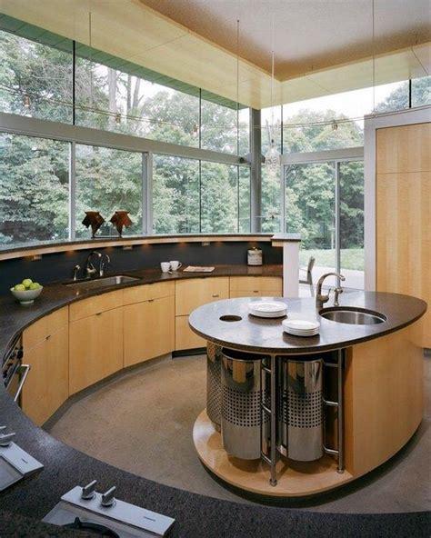 oval kitchen island complement  interior  elegant