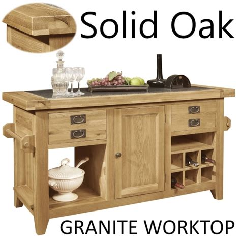 kitchen island granite top lyon solid oak furniture large granite top kitchen island