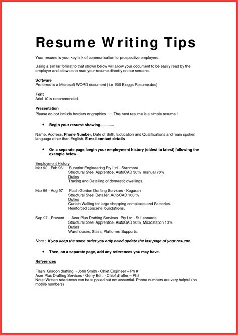 Resume In Plain Text by Best Resume Format Template Memo Exle