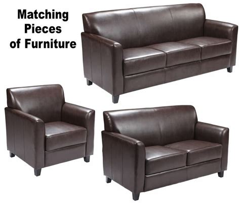 Matching Sofa And Loveseat by Matching Brown Leather Furniture Sofa Loveseat Chair Sofas