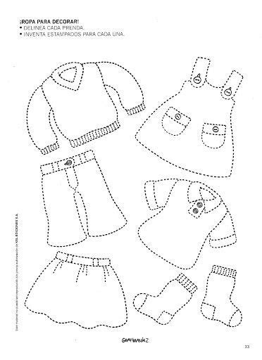 worksheets  clothes  preschool