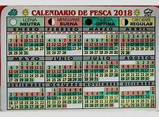 Calendario Lunar de Pesca 2018 PESCADOR DEPORTIVO