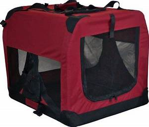 Pet dog cat fabric soft portable crate kennel cage carrier for Fabric dog kennel