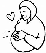 Pregnant Coloring Pages Woman Pregnancy Clipart Cliparts Others Doctor Printable Babies Peoples Library sketch template