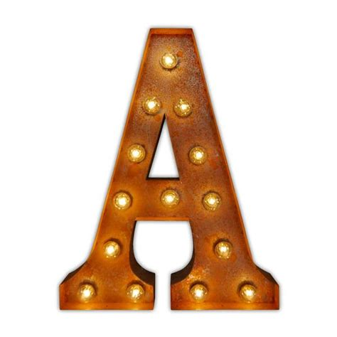 wall mounted vintage light up metal letter a illumination letter light a vintage letter lights uk alphabet light 44480
