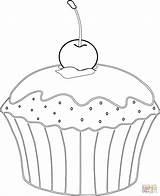 Coloring Muffin Pages Banana Split Cherry Desserts Cupcake Sheet Supercoloring Printable Muffins Ausmalen Donut Template Von Zum Mit Ausmalbilder Kirsche sketch template