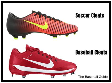 baseball  soccer cleats difference  soccer
