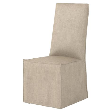 linen chair slipcover lena modern light linen slipcover dining chair