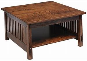 country mission square coffee table costa rican furniture With mission style square coffee table