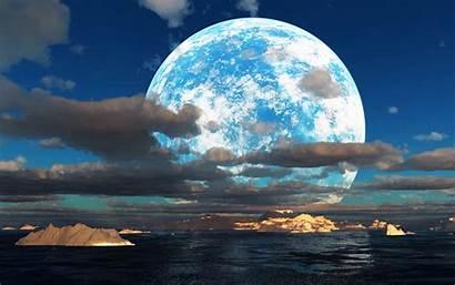 Moon Wallpapers Nice Desktop Pixelstalk Sea