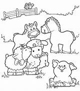 Farm Coloring Pages Printable Print Animals Sheet sketch template